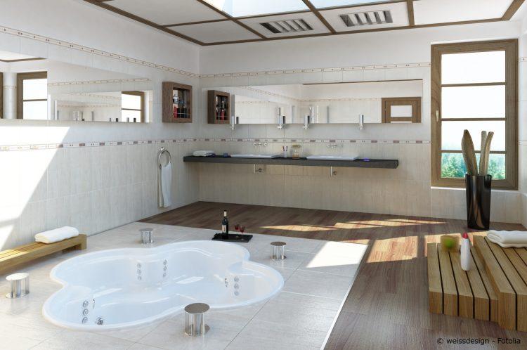 Ein großes Badezimmer